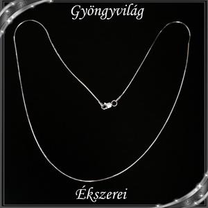 Ékszerek-nyakláncok: 925-ös sterling ezüst lánc SSZ EÜL 09-45e, Ékszer, Nyaklánc, Medál nélküli nyaklánc, Ékszerkészítés, Gyöngyfűzés, gyöngyhímzés, Meska