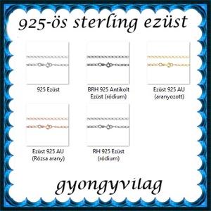 Ékszerek-karkötők: 925-ös sterling ezüst karkötő SSZ EÜK 11-19e - ékszer - nyaklánc - medál nélküli nyaklánc - Meska.hu