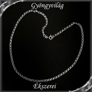 Ékszerek-nyakláncok: 925-ös sterling ezüst lánc SSZ EÜL 11-42e, Ékszer, Nyaklánc, Medál nélküli nyaklánc, Ékszerkészítés, Gyöngyfűzés, gyöngyhímzés, Meska