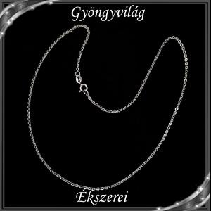 Ékszerek-nyakláncok: 925-ös sterling ezüst lánc SSZ EÜL 12-42e, Ékszer, Nyaklánc, Medál nélküli nyaklánc, Ékszerkészítés, Gyöngyfűzés, gyöngyhímzés, Meska