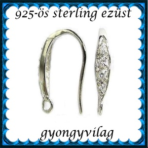 925-ös finomságú sterling  ezüst fülbevaló kapocs EFK A 45/2r - Meska.hu