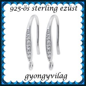 925-ös finomságú sterling  ezüst fülbevaló kapocs EFK A 45/4r - Meska.hu
