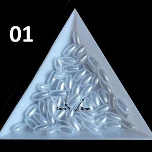 Ékszerkellék: gyöngy, viasz gyöngy GY VGYR 4x8 mm rizsszem több színben - Meska.hu