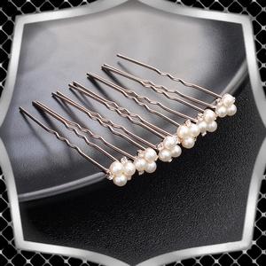 Ékszerek-hajdíszek, hajcsatok: Esküvői, menyasszonyi, alkalmi hajdísz, ES-H-TŰ01a 6db/csomag, Esküvő, Hajdísz, Kontydísz & Hajdísz, Ékszerkészítés, Gyöngyfűzés, gyöngyhímzés, Meska