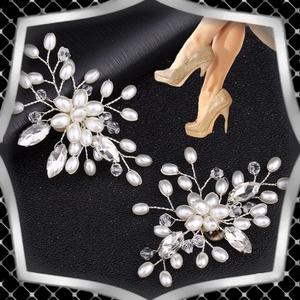 Esküvői, menyasszonyi, alkalmi cipődísz, cipőklipsz ES-CK14 - esküvő - cipő és cipőklipsz - Meska.hu