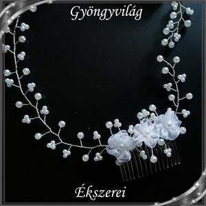 Ékszerek-hajdíszek, hajcsatok: Esküvői, menyasszonyi, alkalmi hajdísz, S-H-FÜ24 - Meska.hu