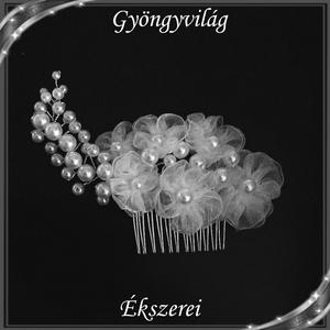 Ékszerek-hajdíszek, hajcsatok: Esküvői, menyasszonyi, alkalmi hajdísz, S-H-FÉ01 - Meska.hu