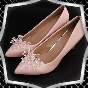 Esküvői, menyasszonyi, alkalmi cipődísz, cipőklipsz ES-CK18, Esküvő, Cipő és Cipőklipsz, Ékszerkészítés, Gyöngyfűzés, gyöngyhímzés, Meska
