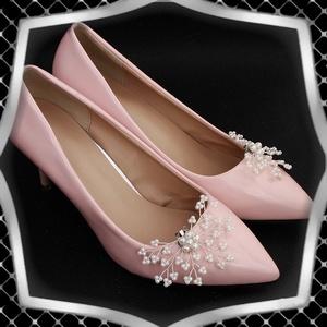 Esküvői, menyasszonyi, alkalmi cipődísz, cipőklipsz ES-CK18 - esküvő - cipő és cipőklipsz - Meska.hu