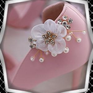 Esküvői, menyasszonyi, alkalmi cipődísz, cipőklipsz ES-CK20 - esküvő - cipő és cipőklipsz - Meska.hu