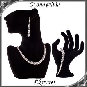 Esküvői, menyasszonyi, alkalmi ékszer szett, swarovszki kristály SSZ-ESWPG 02-1 - esküvő - ékszer - ékszerszett - Meska.hu