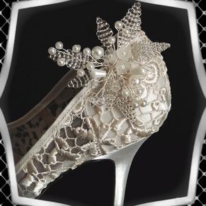 Esküvői, menyasszonyi, alkalmi cipődísz, cipőklipsz ES-CK19 - esküvő - cipő és cipőklipsz - Meska.hu