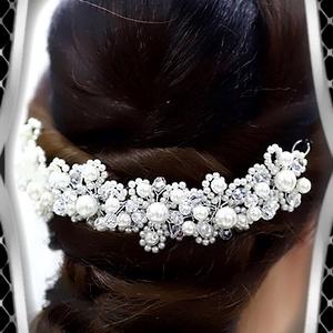 Ékszerek-hajdíszek, hajcsatok: Esküvői, menyasszonyi, alkalmi hajdísz ES-H-TI10 - esküvő - hajdísz - kontydísz & hajdísz - Meska.hu