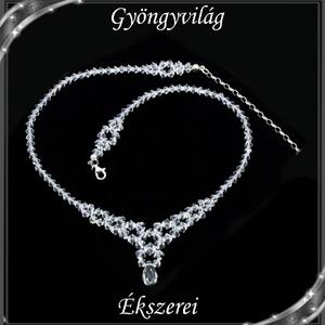 Ékszerek-szettek: Esküvői, menyasszonyi, alkalmi ékszer szett, swarovszki kristály SSZ-ESWF 06-1 - esküvő - ékszer - ékszerszett - Meska.hu