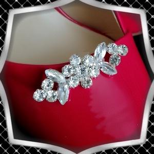 Esküvői, menyasszonyi, alkalmi cipődísz, cipőklipsz ES-CK24, Esküvő, Cipő és Cipőklipsz, Ékszerkészítés, Gyöngyfűzés, gyöngyhímzés, Meska
