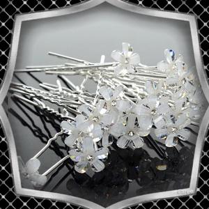Ékszerek-hajdíszek, hajcsatok: Esküvői, menyasszonyi, alkalmi hajdísz ES-H-TŰ19 10db/csomag, Esküvő, Hajdísz, Kontydísz & Hajdísz, Ékszerkészítés, Gyöngyfűzés, gyöngyhímzés, Meska