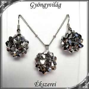 Ékszerek-szettek: kristály ékszer szett SSZNA-KGY01-11 spining silver, Ékszer, Ékszerszett, Ékszerkészítés, Gyöngyfűzés, gyöngyhímzés, Meska