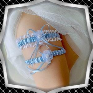Esküvői, menyasszonyi harisnyakötő szett  ES-HK25-2K, Esküvő, Kiegészítők, Harisnyatartó & Valami kék, Ékszerkészítés, Gyöngyfűzés, gyöngyhímzés, Meska
