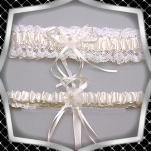 Esküvői, menyasszonyi harisnyakötő szett  ES-HK25-1F - Meska.hu
