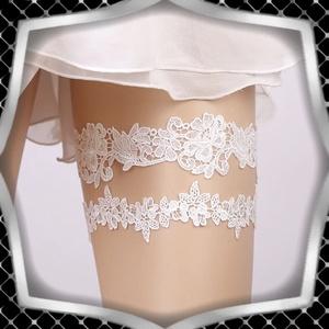 Esküvői, menyasszonyi harisnyakötő szett  ES-HK12F, Esküvő, Kiegészítők, Harisnyatartó & Valami kék, Ékszerkészítés, Meska