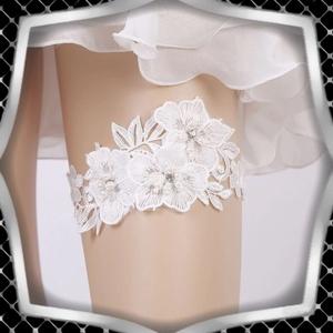 Esküvői, menyasszonyi harisnyakötő  ES-HK27, Esküvő, Kiegészítők, Harisnyatartó & Valami kék, Ékszerkészítés, Meska