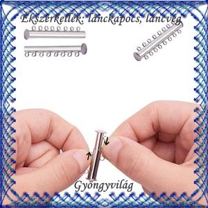 Ékszerkellék: lánckapocs BLK-4S-01 mágneses - gyöngy, ékszerkellék - egyéb alkatrész - Meska.hu