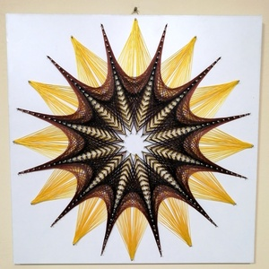 String Art/Fonalgrafika/Mandala: Fali kép K01-01-50X50, Otthon & Lakás, Dekoráció, Fotó, grafika, rajz, illusztráció, Csomózás, Meska