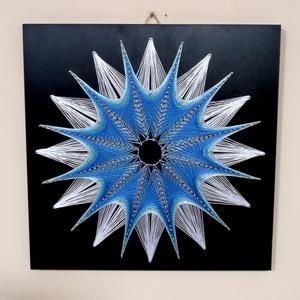 String Art/Fonalgrafika/Mandala: Fali kép K01-02-40X40, Otthon & Lakás, Dekoráció, Fotó, grafika, rajz, illusztráció, Csomózás, Meska