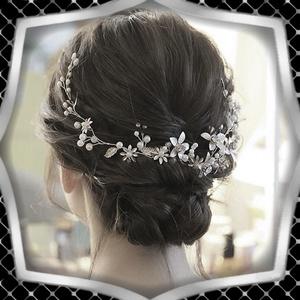 Ékszerek-hajdíszek, hajcsatok: Esküvői, menyasszonyi, alkalmi hajdísz ES-H-FÜ08e, Esküvő, Hajdísz, Kontydísz & Hajdísz, Ékszerkészítés, Gyöngyfűzés, gyöngyhímzés, Meska