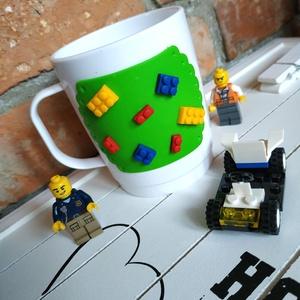 Legos törhetetlen bögre, Bögre & Csésze, Konyhafelszerelés, Otthon & Lakás, Gyurma, Legos törhetetlen bögre, így tökéletes minden babának az első kortyokhoz is, hisz ha le is ejti nem ..., Meska