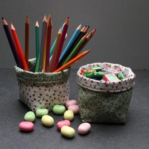 Kifordítom-befordítom textiltároló (tavaszi zöld) (haBEAs) - Meska.hu