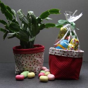 Kifordítom-befordítom textiltároló (tavaszi piros) (haBEAs) - Meska.hu