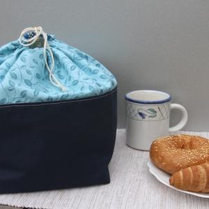 2in1 kenyértartó és kenyérkosár egyben (kék), NoWaste, Textilek, Textil tároló, Otthon & lakás, Konyhafelszerelés, Kenyértartó, Varrás, Ha szereted a funkcionális, de esztétikus, az otthon melegét árasztó tárgyakat, akkor bizonyosan meg..., Meska