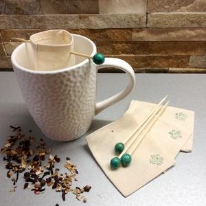 Újra teafilter, Otthon & Lakás, Konyhafelszerelés, Tea & Kávé tárolás, Varrás, Fém- és műanyagmentes megoldást keresel gyógytea vagy teafűből készült teázáshoz? Ugye neked sincs o..., Meska