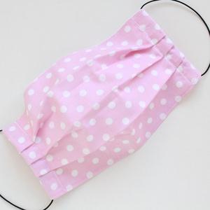 Arcmaszk, szájmaszk, mosható, vasalható, 2 rétegű, 100% pamutvászon, rózsaszín alapon fehér nagy pöttyös, NoWaste, Táska, Divat & Szépség, Szépség(ápolás), Maszk, szájmaszk, Varrás, Arcmaszk, szájmaszk, mosható, vasalható, 2 rétegű, 100% pamutvászon, rózsaszín alapon fehér nagy pöt..., Meska