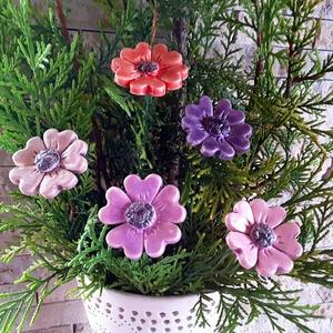 5 db Lila  Árnyalatú  Kerámia Virág(tp13)), Otthon & Lakás, Ház & Kert, Kerámia, Virágkötés,  Szedj egy  csokrot  a virágos kertemből! Egész évben üde színfoltja lehet otthonodnak.A csokrot kie..., Meska