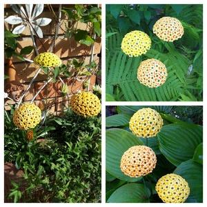 ,3 db Egzotikus Sárga Virág