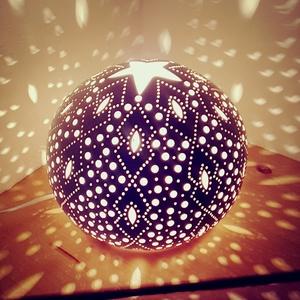""",Favorit\""""Kerámia Éjjeli Lámpa, Otthon & Lakás, Lámpa, Hangulatlámpa, Kerámia, A LÁMPA MELY HANGULATOT TEREMT!Válogass bátran a formák és a hangulatok közt!A fény tökéletes kiegés..., Meska"""