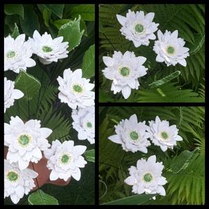 3 db Nagy Kerámia  Virág Levéllel  (tp.10), Csokor & Virágdísz, Dekoráció, Otthon & Lakás, Kerámia, Virágkötés,  Szedj egy  csokrot  a virágos kertemből!  Egész évben üde színfoltja lehet otthonodnak.A csokrot ki..., Meska