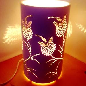 """, Tulipán Tánc\""""Kerámia Éjjeli Lámpa, Otthon & lakás, Lakberendezés, Lámpa, Asztali lámpa, Kerámia, A LÁMPA MELY HANGULATOT TEREMT!Válogass bátran a formák és a hangulatok közt!A fény tökéletes kiegés..., Meska"""