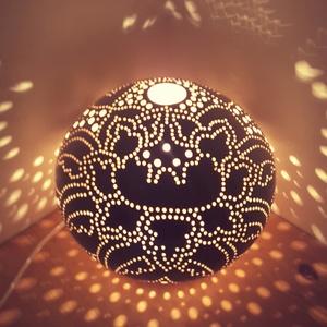 """,Lótusz Virág Ragyogása\""""Kerámia Éjjeli Lámpa, Otthon & lakás, Lakberendezés, Lámpa, Hangulatlámpa, Asztali lámpa, Kerámia, A LÁMPA MELY HANGULATOT TEREMT!Válogass bátran a formák és a hangulatok közt!A fény tökéletes kiegés..., Meska"""