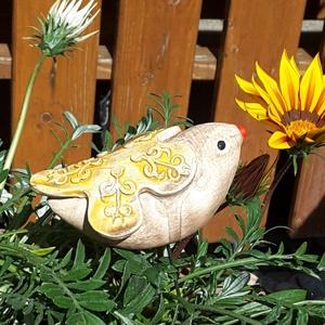 """, Tavasz Madara\""""Kerámia Kerti Dísz, Otthon & lakás, Lakberendezés, Dekoráció, Kerti dísz, Kerámia, Nagyon szeretem a kertet a virágokat.Ezért is szeretek annyira kerti díszeket készíteni.Szeretem ha ..., Meska"""