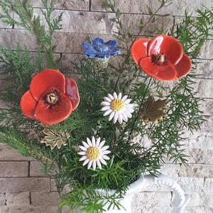"""Mezei Virágcsokor \""""Mázas Kerámia Virág , Csokor & Virágdísz, Dekoráció, Otthon & Lakás, Kerámia, Virágkötés, Szedj egy csokrot a virágos kertemből ! Fehér agyagból aprólékos kézi munkával és 2 szeri égetéssel ..., Meska"""