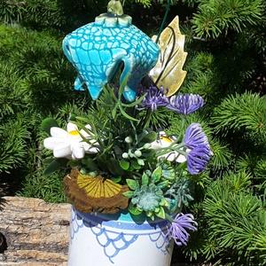""",Egy Szál Harangvirág\""""Kerámia Virágos  Asztaldísz, Csokor & Virágdísz, Dekoráció, Otthon & Lakás, Kerámia, Virágkötés, Fehér agyagból aprólékos kézi munkával készült kerámia virágok és levelek melyeket második égetés el..., Meska"""