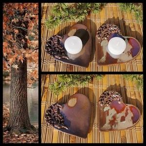 """, Szeretet\"""" 2 db Kerámia Mécsestartó , Otthon & Lakás, Dekoráció, Gyertya & Gyertyatartó, Kerámia, Igazi kis lakásékszer ! Fehér agyagból kézi formázással készítettem ezeket kedves szív alakú mécsest..., Meska"""
