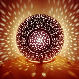 """,Mandala""""Kerámia Éjjeli Lámpa, Otthon & Lakás, Lámpa, A LÁMPA MELY HANGULATOT TEREMT!Válogass bátran a formák és a hangulatok közt!A fény tökéletes kiegés..., Meska"""