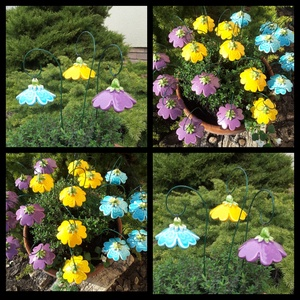 """3db ,Tarka-Barka \"""" Kerámia Harangvirág , Otthon & Lakás, Dekoráció, Csokor & Virágdísz, Kerámia, Virágkötés, Szedj egy csokrot a virágos kertemből!Állítsd össze a saját csokrod! Fehér agyagból aprólékos kézi m..., Meska"""