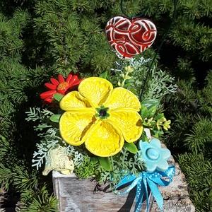""",Pedagógus  nap\""""Kerámia Virágos  Asztaldísz( C), Otthon & Lakás, Dekoráció, Asztaldísz, Kerámia, Virágkötés, Fehér agyagból aprólékos kézi munkával készült kerámia virágok ,levelek  melyeket második égetés elő..., Meska"""