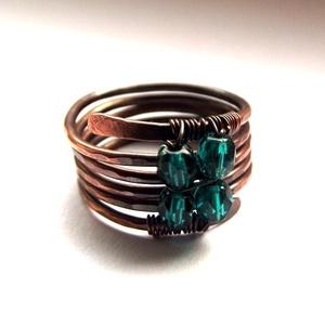 Smaragd spirál gyűrű (hajnalgyongy) - Meska.hu