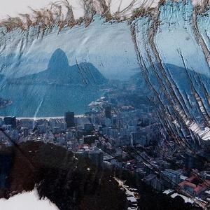 Rio de Janeiro látképe a Botafogo öböllel, Művészet, Fotográfia, Fotó, grafika, rajz, illusztráció, Pálmafa kérgére nyomtatott rioi látkép. A negatív készítési ideje 2006. Egyetlen darab készült belől..., Meska